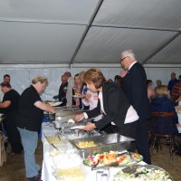 The buffet in our marquee